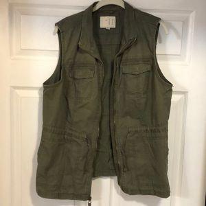 Olive green cotton vest